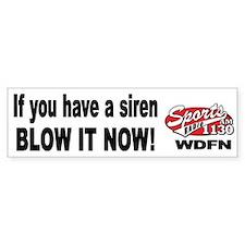 """WDFN """"Blow it Now"""" White Bumper Sticker"""
