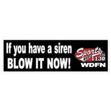 "WDFN ""Blow It Now"" Black Bumper Sticker"