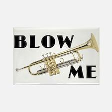 Blow Me- Trumpet Rectangle Magnet