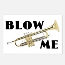 Blow Me- Trumpet Postcards (Package of 8)