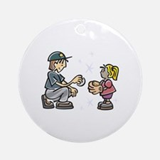 Play Ball Ornament (Round)
