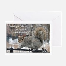 Squirrel Bird two Greeting Card