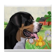Swissie portrait Tile Coaster