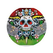 """Day of the Dead 3.5"""" Button"""