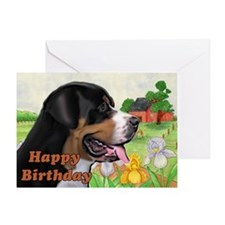 Swissie Birthday Greeting Card