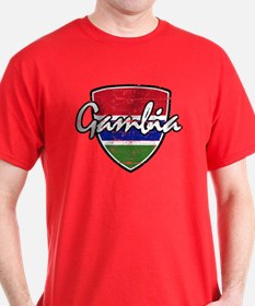 Gambian distressed Flag T-Shirt