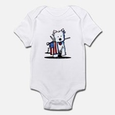 2008 JULY 4th Westie Infant Bodysuit