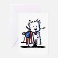2008 JULY 4th Westie Greeting Card