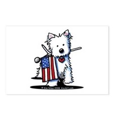 2008 JULY 4th Westie Postcards (Package of 8)