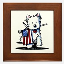 2008 JULY 4th Westie Framed Tile
