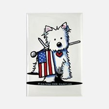 2008 JULY 4th Westie Rectangle Magnet (100 pack)