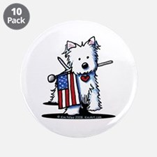 "2008 JULY 4th Westie 3.5"" Button (10 pack)"