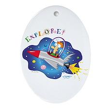 Rocket Explore Keepsake (Oval)