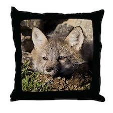 Cross Fox Kit Throw Pillow