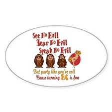 Party Girl 86th Oval Decal