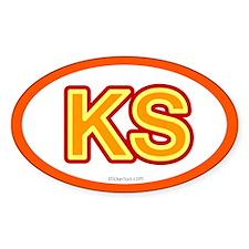 KS - Kansas Oval Decal