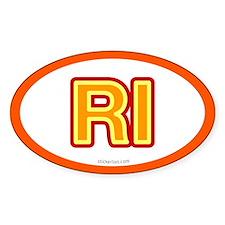 RI - Rhode Island Oval Decal