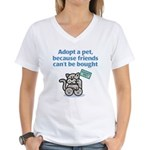 Adopt a Pet (Cat) Women's V-Neck T-Shirt