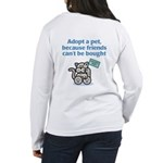Adopt a Pet (Cat) Women's Long Sleeve T-Shirt