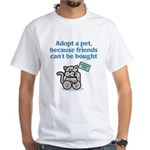 Adopt a Pet (Cat) White T-Shirt