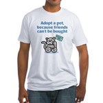 Adopt a Pet (Cat) Fitted T-Shirt