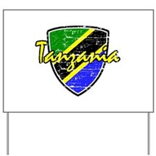 Tanzanian distressed Flag Yard Sign
