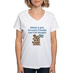 Adopt a Pet (Dog) Women's V-Neck T-Shirt