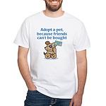 Adopt a Pet (Dog) White T-Shirt