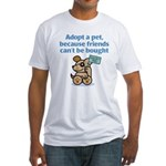 Adopt a Pet (Dog) Fitted T-Shirt