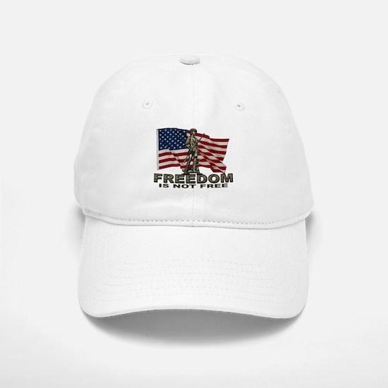 FREEDOM NOT FREE Baseball Baseball Cap