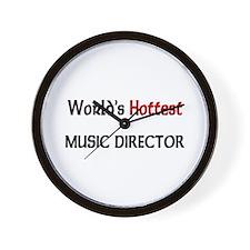 World's Hottest Music Director Wall Clock