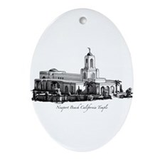 Newport Beach California Temple  Keepsake (Oval)