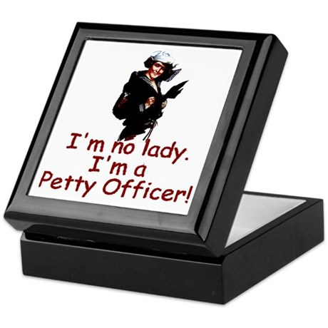 I'm No Lady Keepsake Box