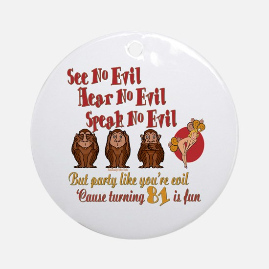 Party Girl 81st Ornament (Round)