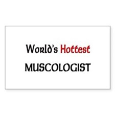 World's Hottest Muscologist Rectangle Decal