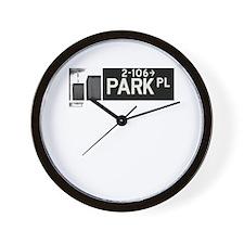 Park Place in NY Wall Clock
