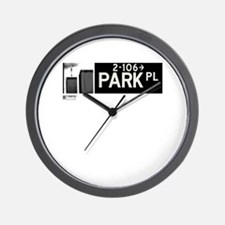 Park Place in NY Wall Clock