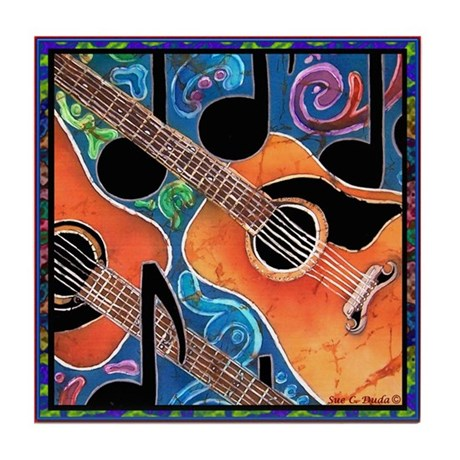 Guitar Tile Coaster
