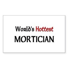 World's Hottest Mortician Rectangle Decal