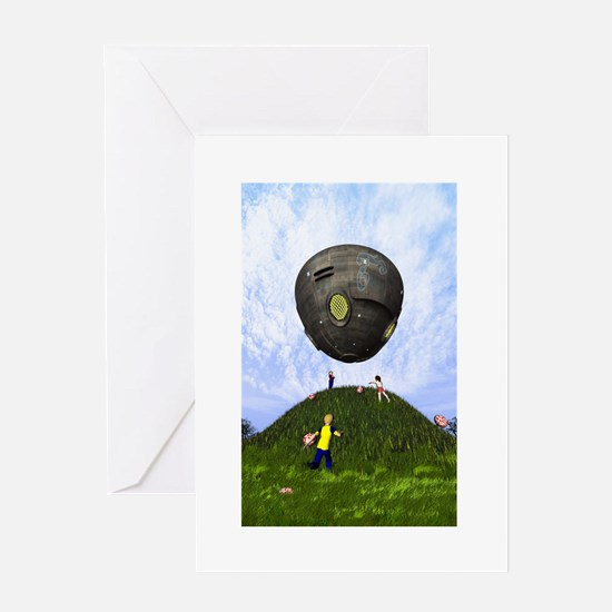 Funny Ufos Greeting Card