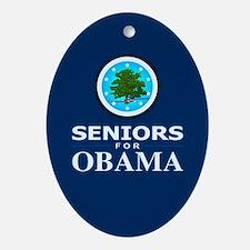 SENIORS FOR OBAMA Oval Ornament