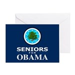 SENIORS FOR OBAMA Greeting Card