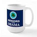 SENIORS FOR OBAMA DARK Large Mug