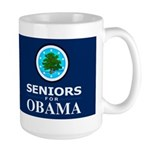 SENIORS FOR OBAMA DARK Large Mug