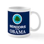 SENIORS FOR OBAMA DARK Mug