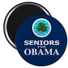 """SENIORS FOR OBAMA 2.25"""" Magnet (10 pack)"""
