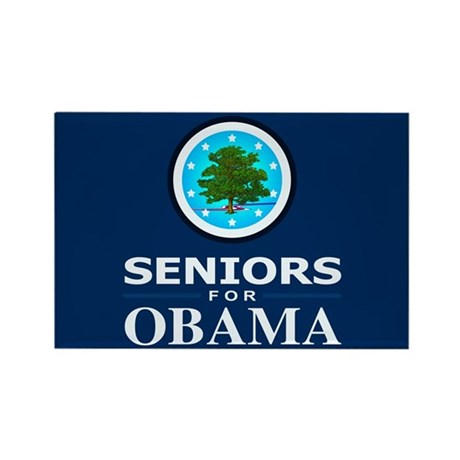 SENIORS FOR OBAMA Rectangle Magnet (100 pack)