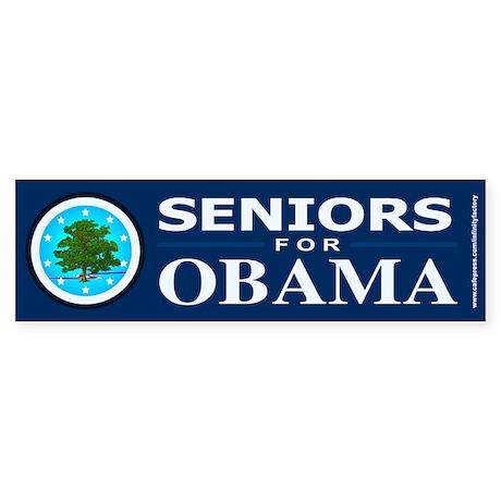 SENIORS FOR OBAMA Bumper Sticker (50 pk)