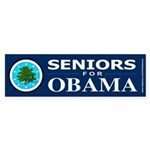 SENIORS FOR OBAMA Bumper Sticker (50 pk)