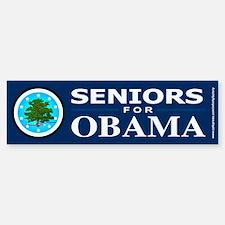 SENIORS FOR OBAMA Bumper Bumper Bumper Sticker